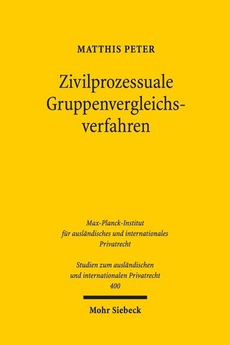 Zivilprozessuale Gruppenvergleichsverfahren