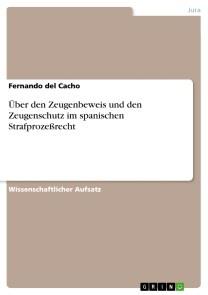 Über den Zeugenbeweis und den Zeugenschutz im spanischen Strafprozeßrecht