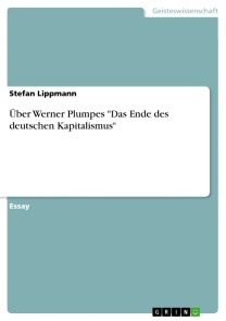 Über Werner Plumpes