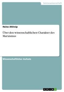 Über den wissenschaftlichen Charakter des Marxismus