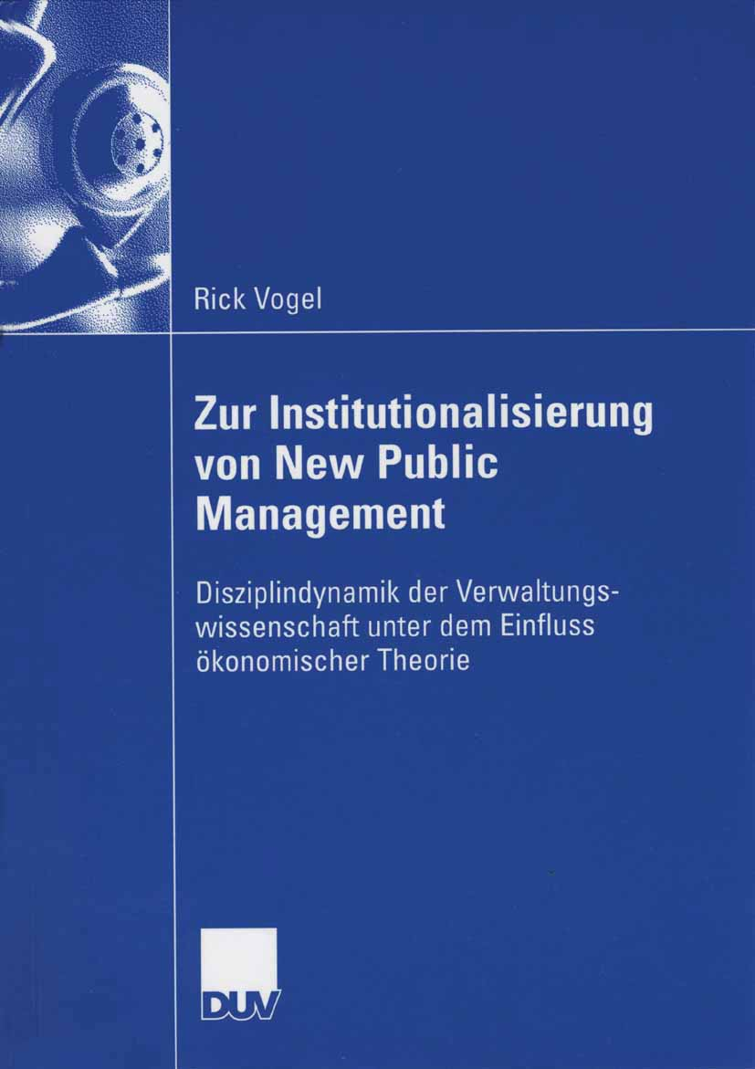 Zur Institutionalisierung von New Public Management
